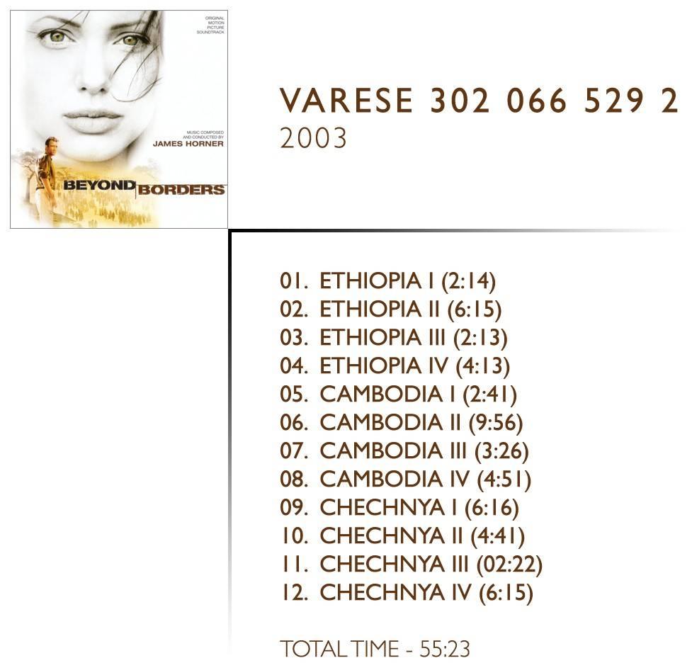 1.  Ethiopia i (02:14) 2.  Ethiopia ii (06:15) 3.  Ethiopia iii (02:13) 4.  Ethiopia iv (04:13) 5.  Cambodia i (02:41) 6.  Cambodia ii (09:56) 7.  Cambodia iii (03:26) 8.  Cambodia iv (04:51) 9.  Chechnya i (06:16) 10.  Chechnya ii (04:41) 11.  Chechnya iii (02:22) 12.  Chechnya iv (06:15)